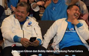 Pasangan Gibran dan Bobby Akhirnya Dukung Partai Gelora